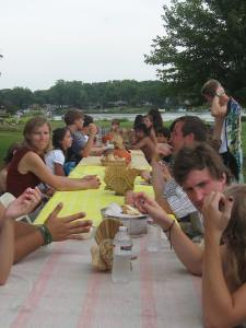 Thanksgiving dinner in July on a lake near Detroit, 2011 Graz Interchange.